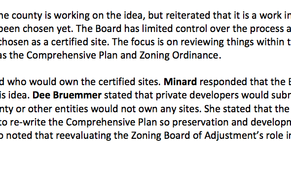 ALERT: Spot Zoning on Unincorporated Land Proposed to P&Z