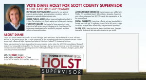 Diane Holst Primary Post Card Mailer 2014
